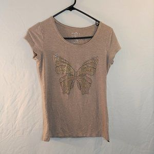 White House Black Market Embellished Butterfly T